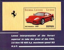 MODERN GEMS - Sierra Leone - Ferrari 360 Modena Car - Souvenir Sheet - MNH