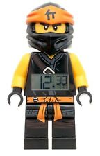 Lego Ninjago Wecker Cole Kinderwecker schwarz/orange