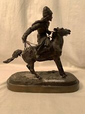 Antique Austrian Bronze by E. Nahlepe Russian Cossack on Horseback Estate Find
