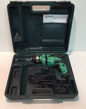"HITACHI D10VH 3/8"" Corded Variable Speed Reversible 6Amp Drill With Case"