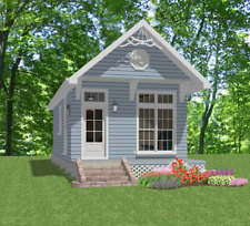 Affordable House Tiny Home Blueprints Plans 1 bedroom Cottage 448 sf PDF