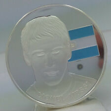 Lionel Messi Argentina Soccer Collector Silver Plated Coin awesome