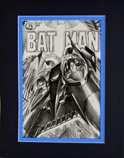 BATMAN COMICS SKETCH COVER PRINT Professionally Matted Ross art Robin Batplane