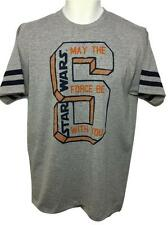 """NEW SIZE MEDIUM STAR WARS """"MAY THE FORCE BE WITH YOU"""" SOFT MENS SHIRT"""