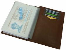 Kalbsleder Ausweisetui Ausweistasche Ausweismäppchen Kreditkartenetui Braun
