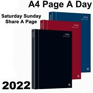 2022 Diary A4 A5 hard back Page A Day or Week To View office appointment student