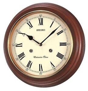 Seiko Westminster/Whittington Chime Wall Clock QXH202B RRP £85.00 Now £69.95