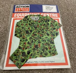 Brand New Vintage Action Man Jungle Camouflage Jacket & Trousers In Orginal
