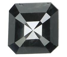 Natural Loose Diamonds Cut Emerald Black Grey Color I3 5.90 MM 1.25 Ct N5561