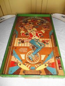 ancien jeu de flipper en bois mi-XXème