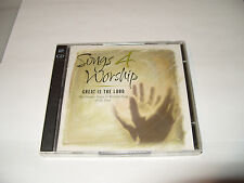 SONGS 4 WORSHIP-GREAT IS THE LORD -22 TRACK 2 cd TIME LIFE MUSIC-2001-crack case