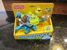 Fisher Price Imaginext vehicle Dinosaur dino New toy Dimetrodon robot man NEW