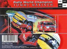 Finland 2000 MNH sheet - Tommi Mäkinen - Rally World Champion - Scott 1125