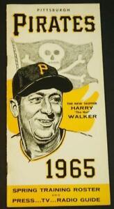 1965 Pittsburgh Pirate Spring Training Roster Press Guide Skull & Crossbones