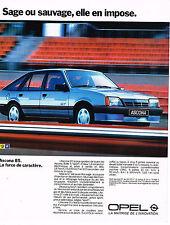 PUBLICITE ADVERTISING 025  1984  OPEL  ASCONA  GT