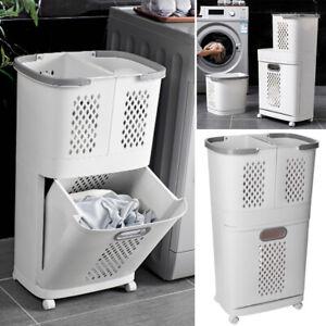 Large Laundry Sorter Cart Hamper Rolling Organizer Clothes Bin Basket On Wheels