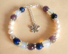 Gemstone Crystal Healing Migraines Headache Neuralgia Bracelet Gift Bag