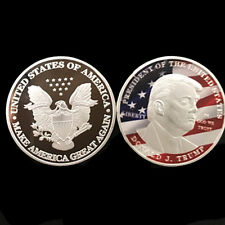 USA 45th President Donald Trump Inaugural USA Flag Commemorative eagle Coin 2018