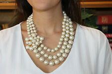VIntage Kate Spade Multi Strand Pearl MOONRIVER Bib Necklace - Bridal Perfect