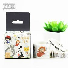New Studio Ghibli Totoro Style Kawaii Washi Tape Masking Tape Art x 3
