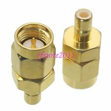 1pce Adapter Connector SMA male plug to SMB male plug for Antenna router