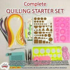 PAPER QUILLING SET Gift Kit Strip Supplies DIY Quilling Craft Tools Complete