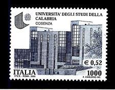 ITALIA REP. - 2000 - 1000 L. - 0,52 € - Università di Cosenza - Camerino