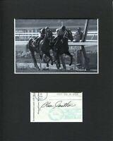 Steve Cauthen Triple Crown Horse Jockey HOF Signed Autograph Photo Display