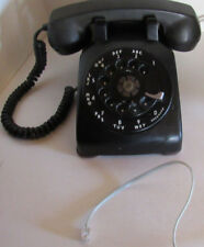 Vintage 1955 Black Western Electric Bell C/D 500 Rotary Telephone - Modern Wire!