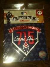 Hank aaron 40th anniversary jersey patch