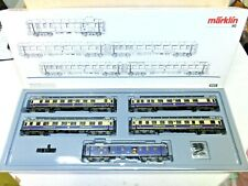 "MARKLIN HO ART.4228 SET DI 5 CARROZZE ""RHEINGOLD"" DRG PERFETTE BOX ORIGINALE"
