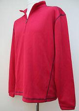 Mens Pebble Beach Pullover Golf Jumper Sweater 1/4 Zip Red Blue Black S M L XL