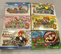 LOT Super Mario Advance 1 2 3 4 Kart Ball GameBoy Advance GBA Japan CIB NTSC-J