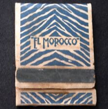 Vintage EL MOROCCO NEW YORK Book of Wood Matches