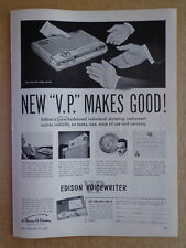 EDISON VOICEWRITER  1953 ad advertisement