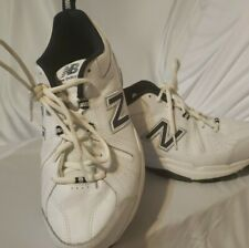 New listing New Balance Men's 608 v5 White with Navy Classic Trainers 4E tennis shoes