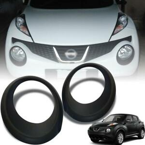 For Nissan Juke 2011-2014 Matte Matt Black Cover Trim Front Headlight