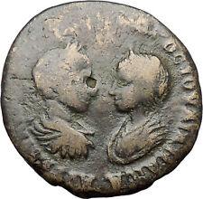 SEVERUS ALEXANDER and JULIA MAESA Marcianopolis Homonoia Roman Coin i47994