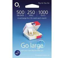 Official O2 02 Big Bundle PAYG Standard Micro Nano 4g SIM Card