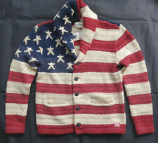 "Denim & Supply Ralph Lauren Shawl Cardigan ""US Flag"" taglia S"