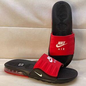 Nike Air Max Camden Sandals Slides Black University Red BQ4626-002 Men's Size 12