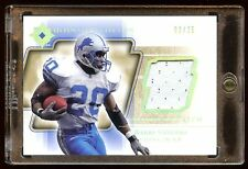 2004 ULTIMATE BARRY SANDERS GOLD GAME WORN PATCH LOGO /25  MINT LIONS  HOF RB