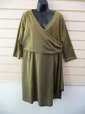 DRESS GOLD METALLIC SPARKLE SIZE 22 JERSEY STYLE PARTY BNWOT