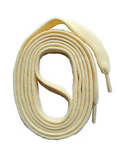 SHOELACES flat laces CREAM 60-240cm, 7-11mm replacement bootlaces SNORS