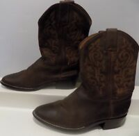 Boy's Girl's Kids JUSTIN Cowboy Cowgirl Boots Size 13.5 Brown 45-99786 Leather