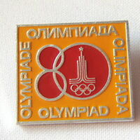 Olympic Games Moscow-80 Enamel Pin Badge Pinback USSR Soviet Olympics-80 Russian