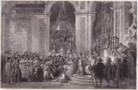 Gravure XIXe Couronnement de Napoléon Bonaparte Premier Empire Louis David Sacre