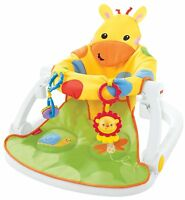 Fisher-Price Giraffe Sit-Me-Up Floor Seat With Tray Baby Chair Playset