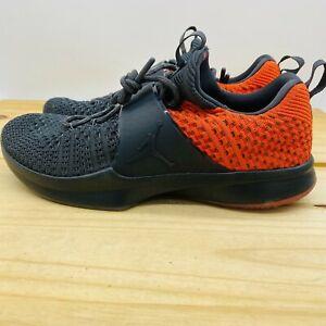 NEW sz 12 Air Jordan Trainer 2 FLYKNIT Shoes Grey Orange 921210-012