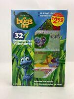 Foil Valentines Day Cards Sealed A BUGS LIFE Vintage 1998 Sealed Disney Pixar 32